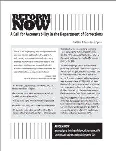 Reform Now 1. Report Cover